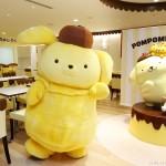 「ポムポムプリンカフェ」関西初出店!東京・竹下通りで大人気  6月16日梅田阪急三番街にOPEN、関西限定メニューも  たこ焼き風プリンくんのチョコフォンデュやお好み焼きが登場