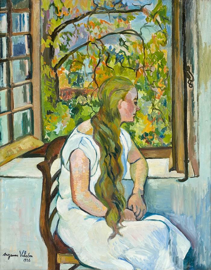 スュザンヌ・ヴァラドン「窓辺のジェルメーヌ・ユッテル」1926年 油彩/個人蔵