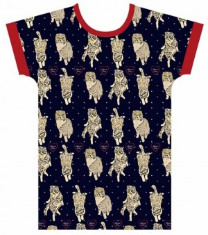 猫 大阪モード学園 Tシャツ