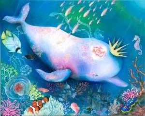 【いきもの展】黒野クジラの絵画
