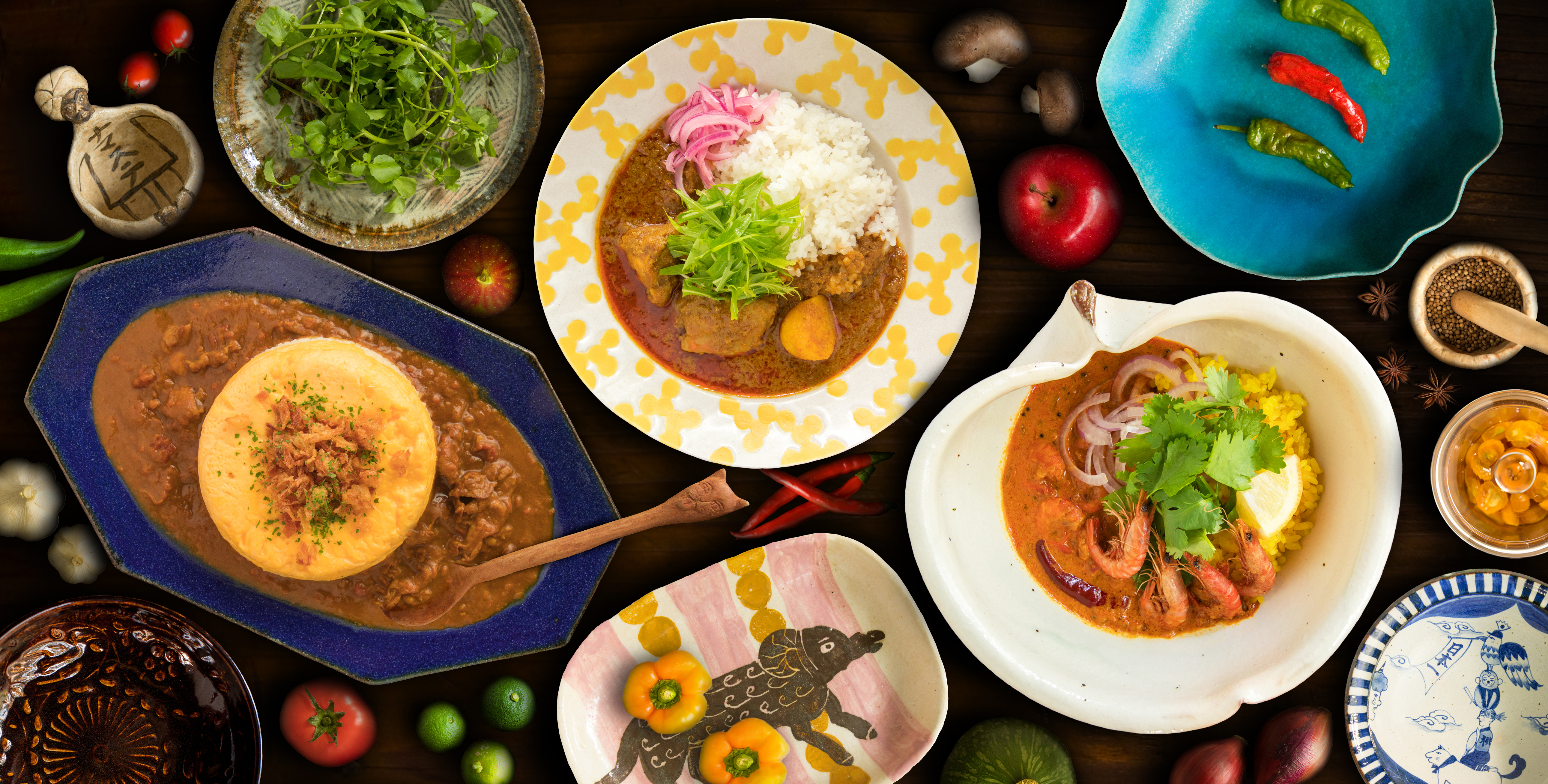 うめだ阪急カレーとカレーのためのうつわ展2017アートワークカレー皿