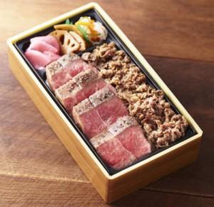 佐賀牛希少部位ステーキ&すきやき弁当