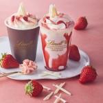 リンツ ショコラ カフェ、新チョコレートドリンク<br> 「ストロベリー」を4月1日から提供開始