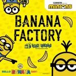 8月7日はバナナの日!<br>7日限定でミニオン限定ショップにてバナナを配布!